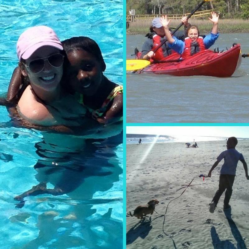 Big and little Water Sports Fun
