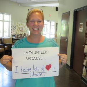Volunteer week Meghan Bornstein