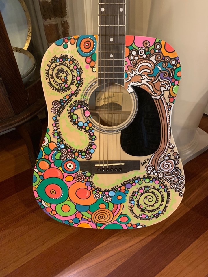 Custom Painted Guitar by Kris Manning Image